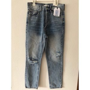 Windsor store high waisted cropped jeans